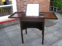 Restoration of a fine Chippendale period mahogany Gentleman's wash stand.